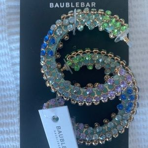 NWT 🌟 BaubleBar Moonlight Hoop Earrings